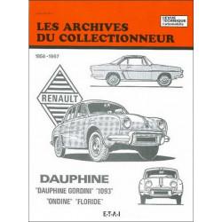 REVUE TECHNIQUE RENAULT DAUPHINE (1956-1967) ARC22 Librairie Automobile SPE 9782726899205