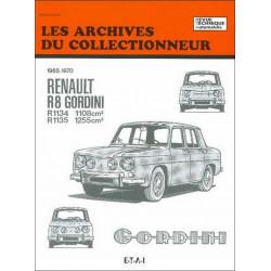 REVUE TECHNIQUE R8 GORDINI (1965-1970) ARC25 Librairie Automobile SPE 9782726899212