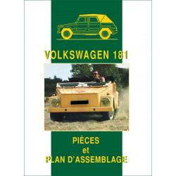 VOLKSWAGEN 181 PIÈCES et PLAN D'ASSEMBLAGE Librairie Automobile SPE 9782360590926