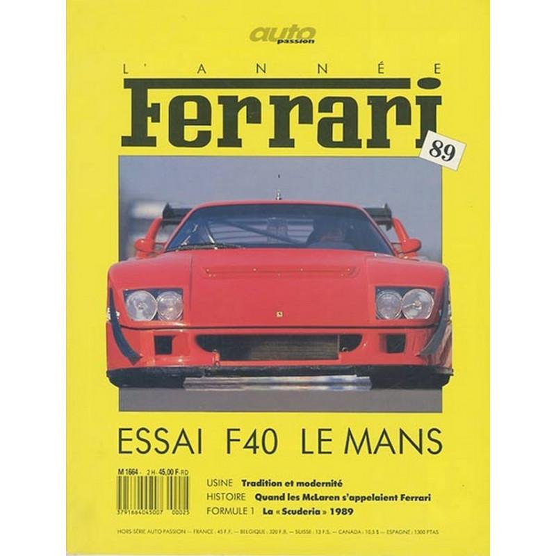 L'ANNÉE FERRARI n°5 F40 LE MANS Librairie Automobile SPE 3791664045007