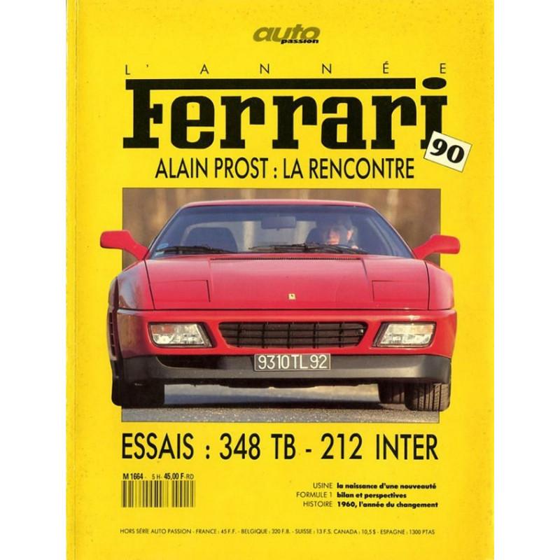 L'ANNÉE FERRARI n°6 Ferrari 348 TB- 212 INTER Librairie Automobile SPE annee ferrari 1990