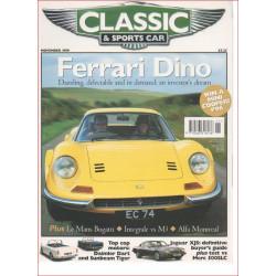 FERRARI DINO CLASSIC and SPORTS CAR NOVEMBER 1999 Librairie Automobile SPE 9770263318136