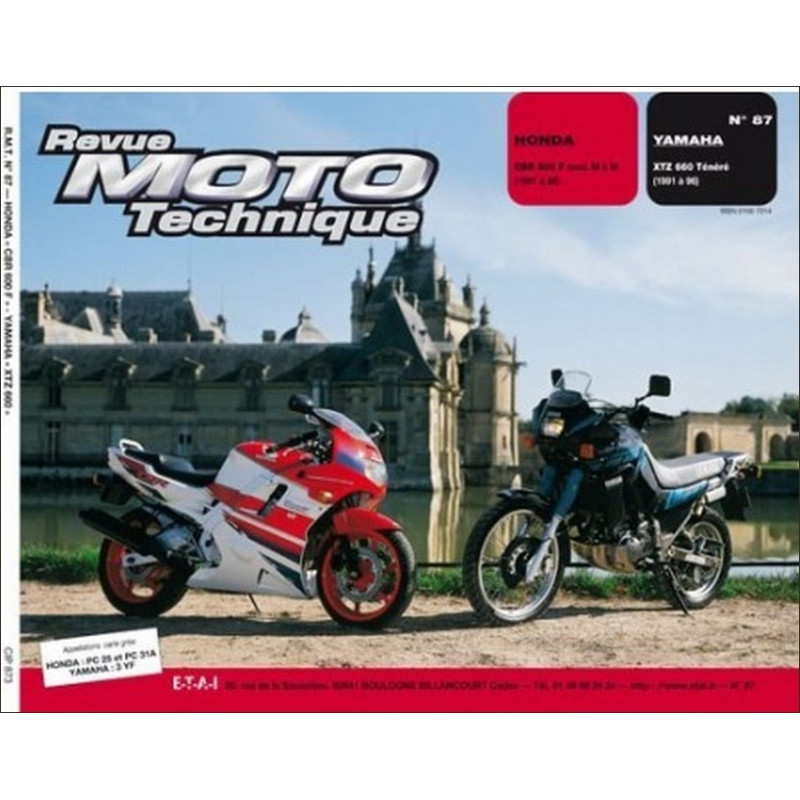 REVUE MOTO TECHNIQUE HONDA CBR 600 de 1991 à 1998 - RMT 87 Librairie Automobile SPE 9782726890813-1