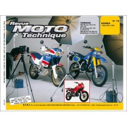 REVUE MOTO TECHNIQUE YAMAHA TRZ / TDR 125 et DT 125 /200 de 1987 à 1994 - RMT 72 Librairie Automobile SPE 9782726891179