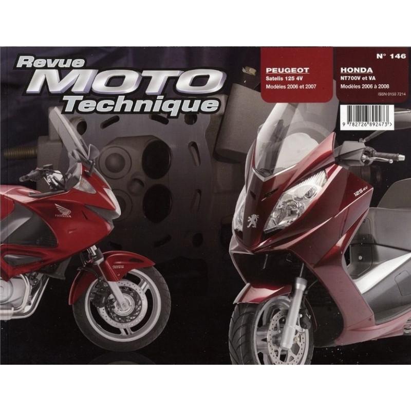REVUE MOTO TECHNIQUE PEUGEOT 125 SATLIS de 2006 et 2007 - RMT 146 Librairie Automobile SPE 9782726892473