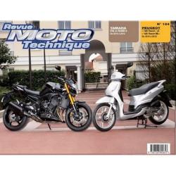 REVUE MOTO TECHNIQUE YAMAHA FAZER 8 et FZ8 de 2010 à 2012 - RMT 164 Librairie Automobile SPE 9782726892657