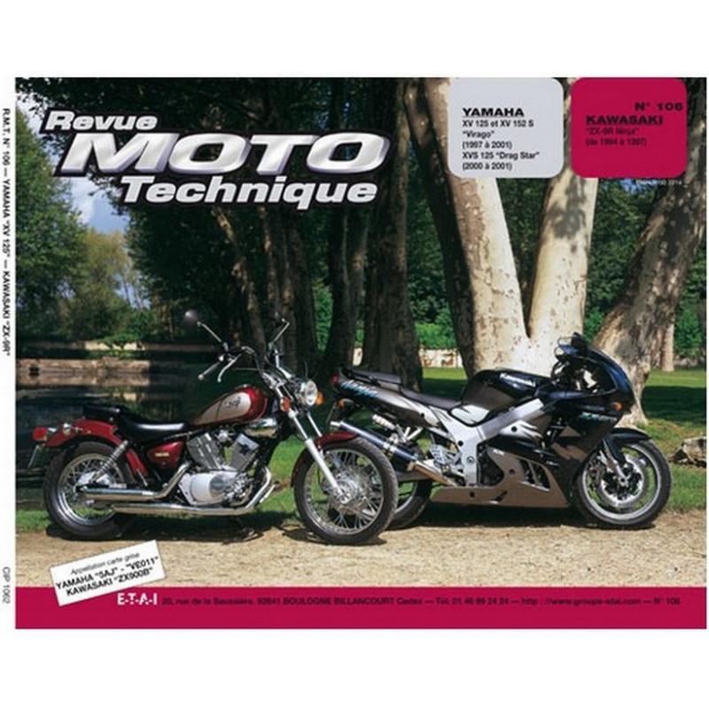 REVUE MOTO TECHNIQUE YAMAHA 125 VIRAGO et DRAGSTAR de 1997 à 2001 - RMT 106 Librairie Automobile SPE 9782726891353