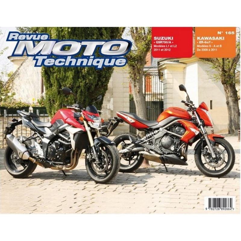 REVUE MOTO TECHNIQUE SUZUKI GSR 750 de 2011 et 2012 - RMT 165 Librairie Automobile SPE 9782726892664