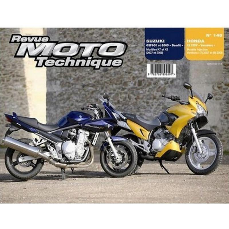 REVUE MOTO TECHNIQUE SUZUKI 650 GSF de 2007 et 2008 - RMT 148 Librairie Automobile SPE 9782726892497