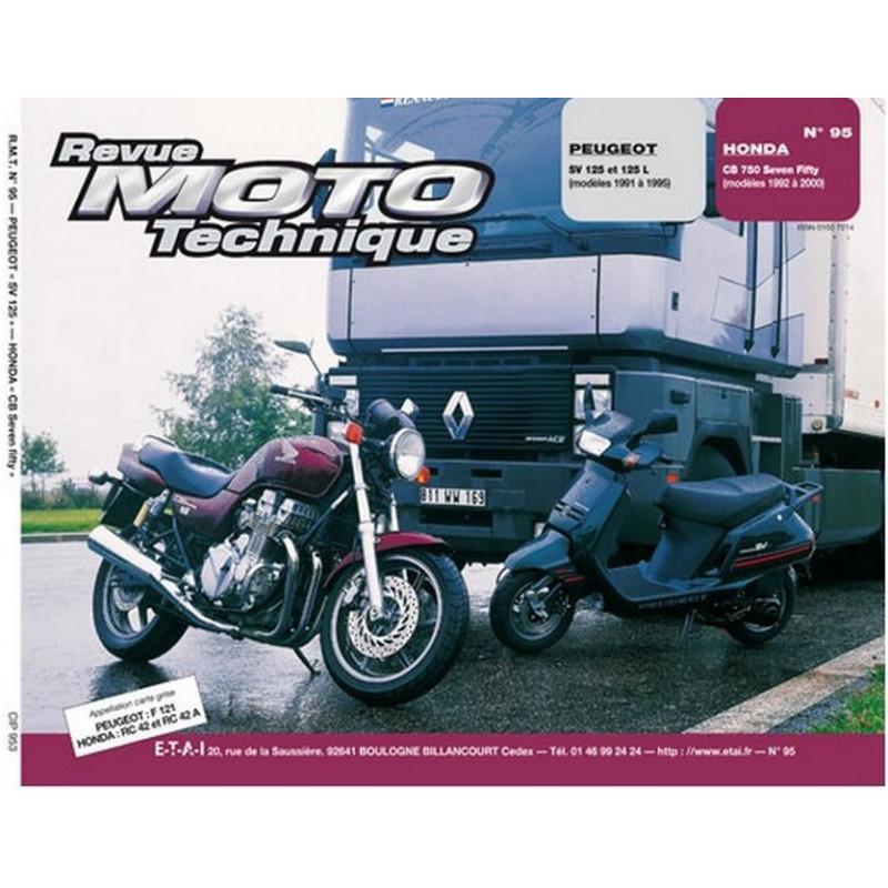 REVUE MOTO TECHNIQUE PEUGEOT SV 125 de 1991 à 1995 - RMT 95 Librairie Automobile SPE 9782726891162