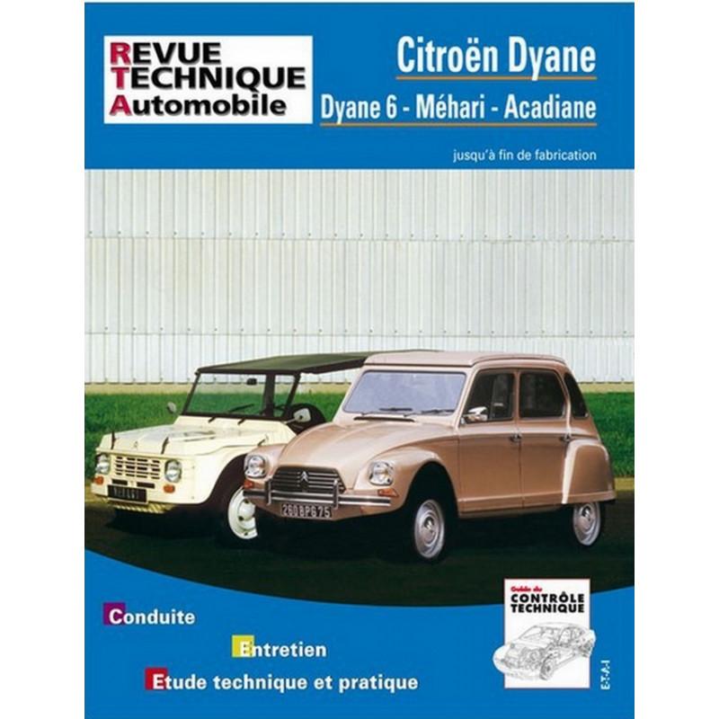 REVUE TECHNIQUE CITROEN MEHARI DYANE - RTA 279 Librairie Automobile SPE 9782726827963