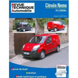 REVUE TECHNIQUE CITROEN NEMO DIESEL - RTA B754 Librairie Automobile SPE 9782726875452