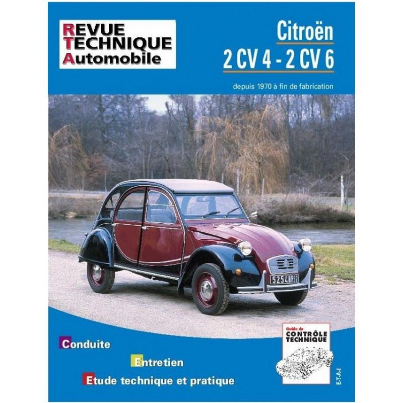 REVUE TECHNIQUE CITROEN 2CV 4/6 - RTA 297 Librairie Automobile SPE 9782726829790