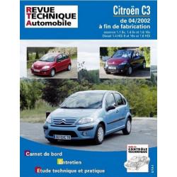 REVUE TECHNIQUE CITROEN C3 ESS et DIESEL RTA 107 Librairie Automobile SPE 9782726810712