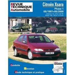 REVUE TECHNIQUE CITROEN XSARA PHASE 1 -RTA 110 Librairie Automobile SPE 9782726811016