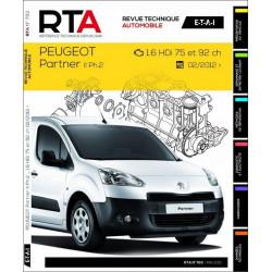 REVUE TECHNIQUE PEUGEOT PARTNER - RTA B793 Librairie Automobile SPE 9782726879351