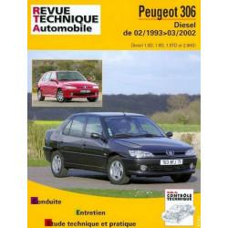 REVUE TECHNIQUE PEUGEOT 306 DIESLE - RTA 114 Librairie Automobile SPE 9782726811412