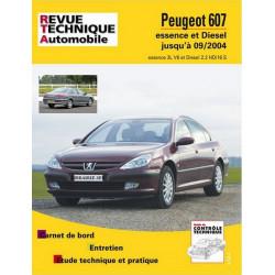 REVUE TECHNIQUE PEUGEOT 607 ESSENCE et DIESEL JUSQU'A 2004 - RTA B708 Librairie Automobile SPE 9782726870853