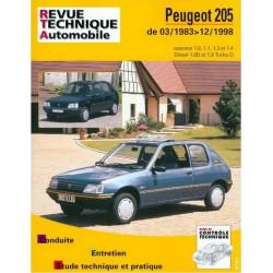 REVUE TECHNIQUE PEUGEOT 205 1983-1998 - RTA 112 Librairie Automobile SPE 9782726811214