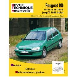REVUE TECHNIQUE PEUGEOT 106 ESSENCE et DIESEL - RTA 539 Librairie Automobile SPE 9782726853931