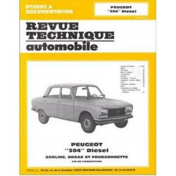 REVUE TECHNIQUE PEUGEOT 304 DIESEL - RTA 379 Librairie Automobile SPE 9782726837924