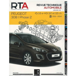 REVUE TECHNIQUE PEUGEOT 308 PHASE 2 - RTA B803 Librairie Automobile SPE RTA 803