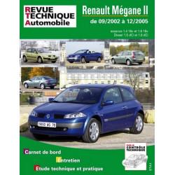REVUE TECHNIQUE RENAULT MEGANE II - RTA 121 Librairie Automobile SPE 9782726812112