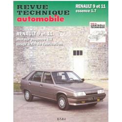 REVUE TECHNIQUE RENAULT 9 et 11 - RTA 443 Librairie Automobile SPE 9782726844342