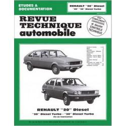 REVUE TECHNIQUE RENAULT 20 et 30 DIESEL - RTA 409 Librairie Automobile SPE 9782726840948