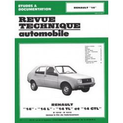 REVUE TECHNIQUE RENAULT 14 - RTA 368 Librairie Automobile SPE 9782726836842