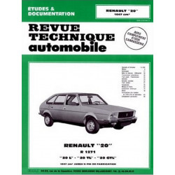 REVUE TECHNIQUE RENAULT 20 - RTA 362 Librairie Automobile SPE 9782726836231