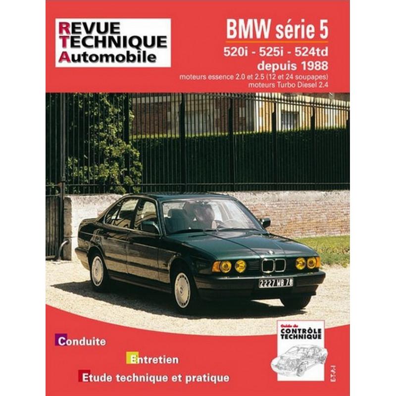 REVUE TECHNIQUE BMW SERIE 5 (E34) - RTA 521 Librairie Automobile SPE 9782726852125