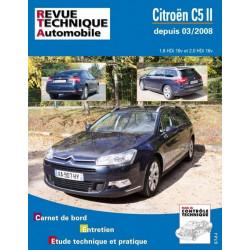 REVUE TECHNIQUE CITROËN C5 II DEPUIS 04/2008 - RTA B737 Librairie Automobile SPE 9782726873755