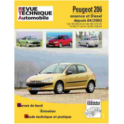 revue technique peugeot 206 essence et diesel rta 694. Black Bedroom Furniture Sets. Home Design Ideas