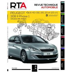 REVUE TECHNIQUE PEUGEOT 308 1.6 HDi DEPUIS 2013 RTA 820 Librairie Automobile SPE 9791028306151