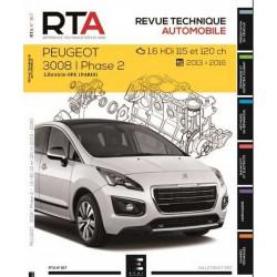 REVUE TECHNIQUE PEUGEOT 3008 PHASE 2 1.6 HDi - RTA 817 Librairie Automobile SPE 9791028306120