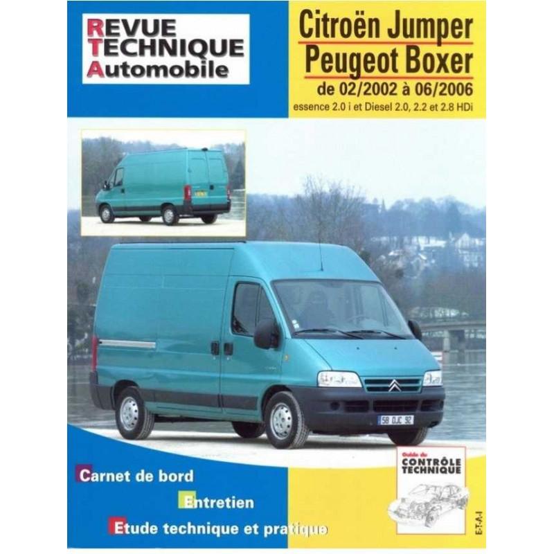 REVUE TECHNIQUE PEUGEOT BOXER 2002-2006 - RTA 126 Librairie Automobile SPE 9782726812655