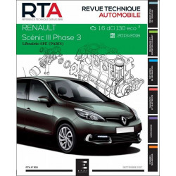 REVUE TECHNIQUE RENAULT SCENIC III PHASE 3 - RTA 818 Librairie Automobile SPE 9791028306137