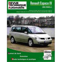 REVUE TECHNIQUE RENAULT ESPACE IV DEPUIS 2002 - RTA TAP419 Librairie Automobile SPE 3176420307030