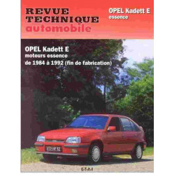 REVUE TECHNIQUE OPEL KADETT E TOUS TYPES - RTA 461 Librairie Automobile SPE 9782726846155