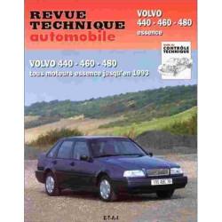 REVUE TECHNIQUE VOLVO 440 460 480 - RTA 540 Librairie Automobile SPE 9782726854013