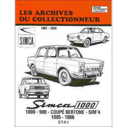 Simca 1000 900 Coupé Bertone Sim '4 1005 1006 1961-1978 ARC35 / ETAI