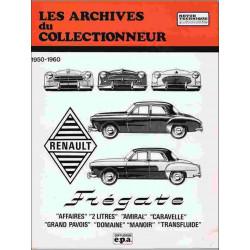 REVUE TECHNIQUE RENAULT FREGATE (1950-1960) ARC12 Librairie Automobile SPE ARC12
