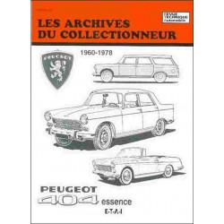 Peugeot 404 essence 1960-1978 ARC40 / ETAI Librairie Automobile SPE 9782726899335