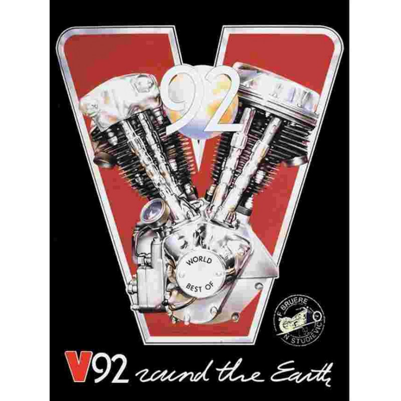 V92 ROUND THE EARTH Librairie Automobile SPE 9782909413099