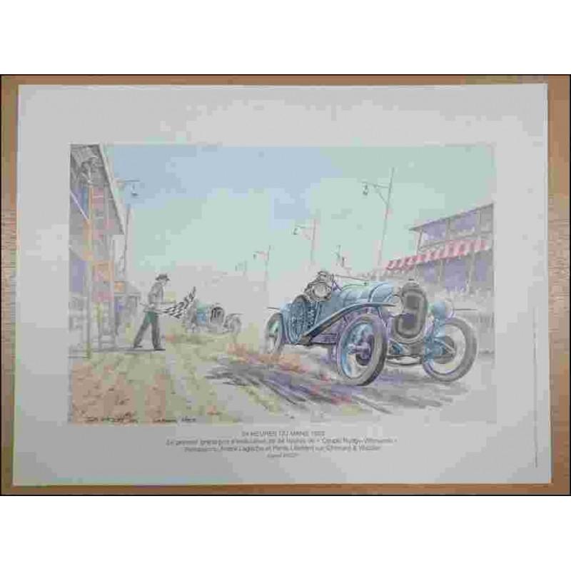 24 Heures du Mans 1923 Reproduction Daniel PICOT Librairie Automobile SPE picot23