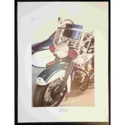 Reproduction - Moto SIDE COP, François BRUERE