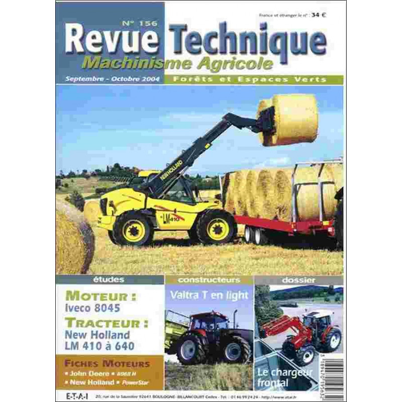 REVUE TECHNIQUE NEW HOLLAN LM 410 À 640 Librairie Automobile SPE RTMA156