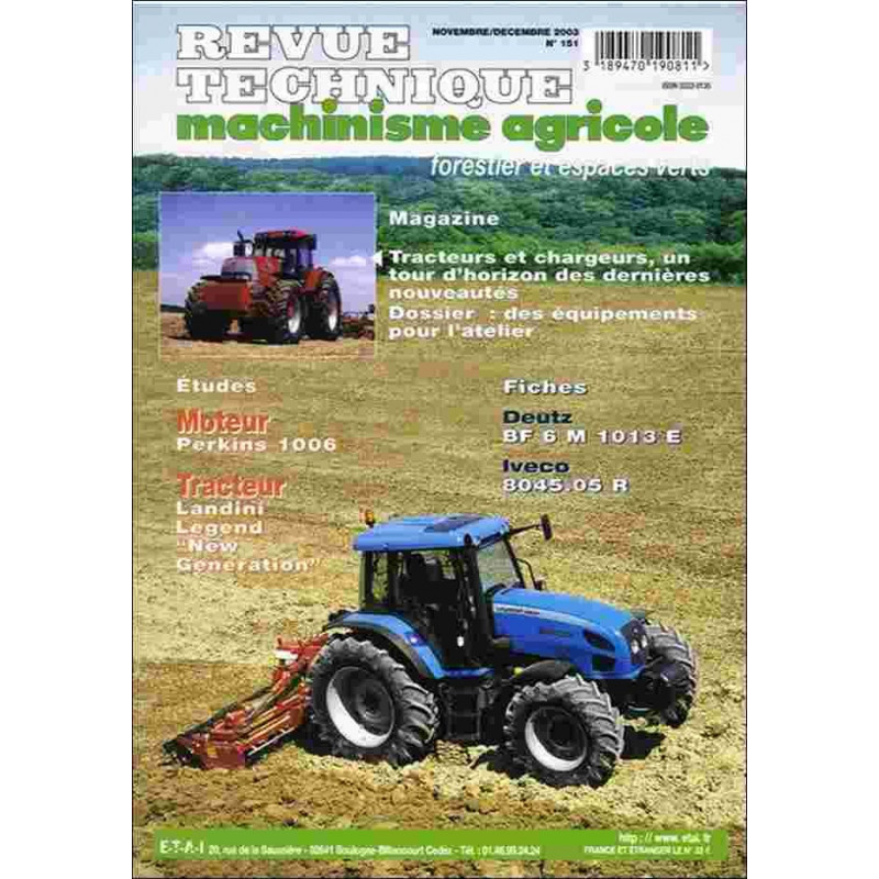 "REVUE TECHNIQUE LANDINI LEGEND "" NEW GENERATION "" Librairie Automobile SPE RTMA151"