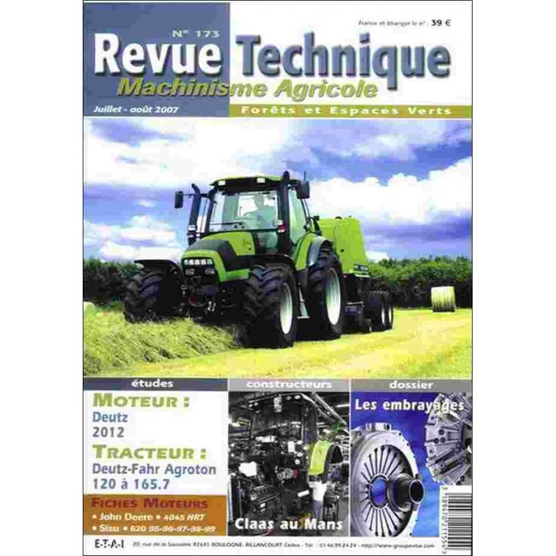 REVUE TECHNIQUE DEUTZ FAHR AGROTON 120 À 165 Librairie Automobile SPE RTMA173